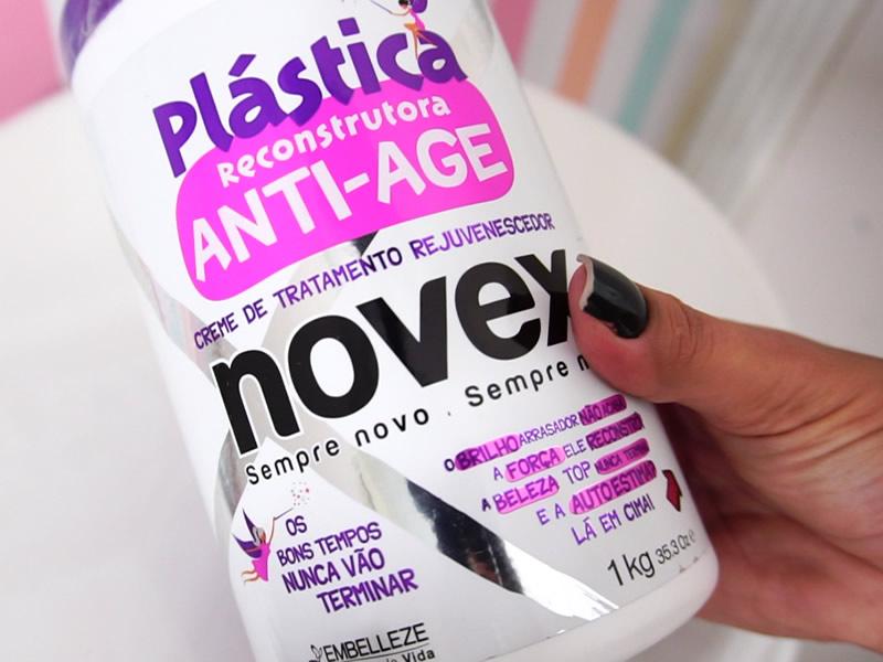 plástica reconstrutora anti-age novex da embelleze - creme de tratamento rejuvenescedor