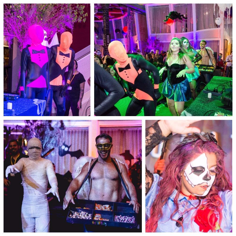 a equipe do inkietus animou a festa de 3 milhões da evelyn regly com sua alegria e dançarinos fantasiados.