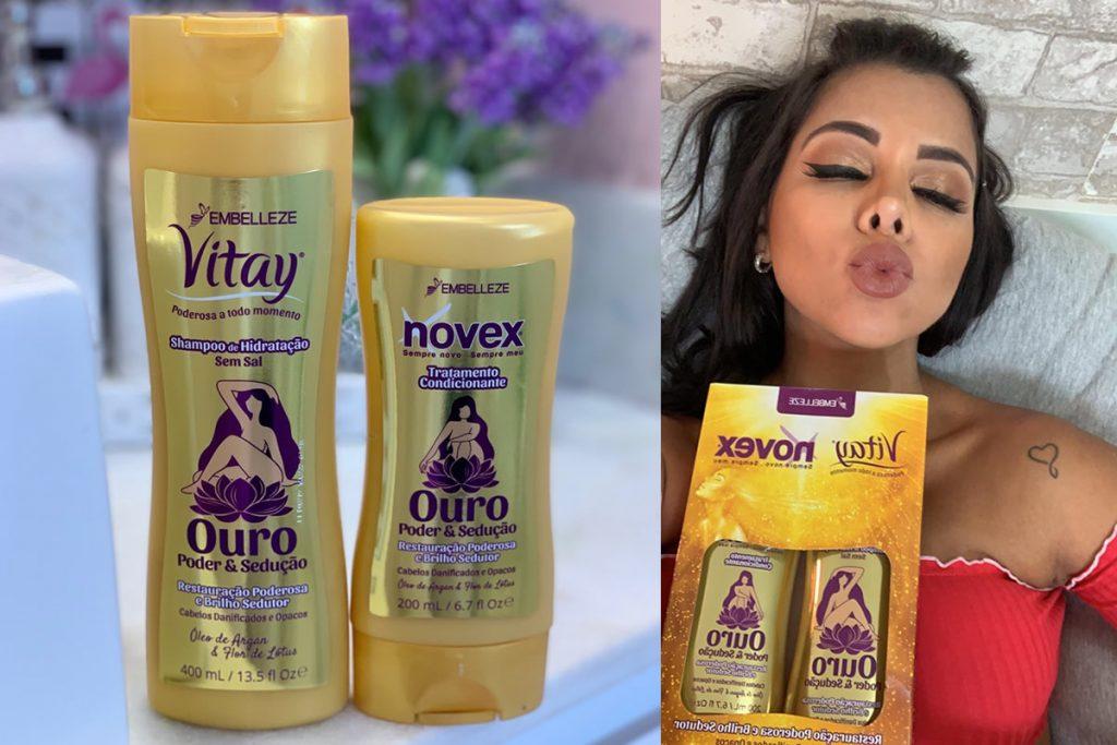 nova embalagem de Vitay. Agora o shampoo vem com 400 ml, enquanto o condicionador vem com 200ml).